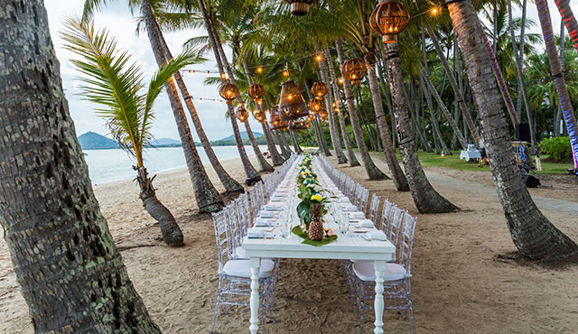 Beachfront venue Palm Cove