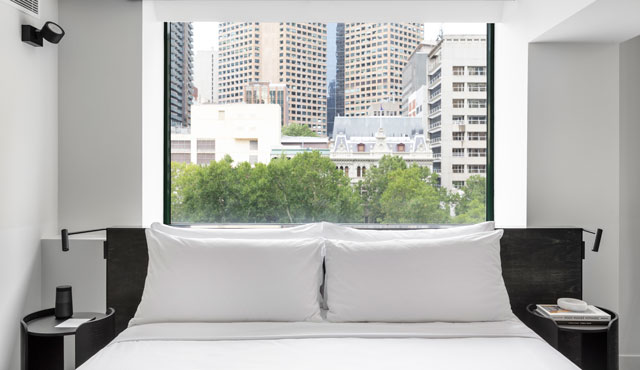 Lancemore Crossley St. Melboure CBD Luxury Accommodation Henry room  city views