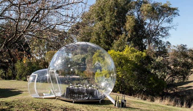 spring hill estate bubble tent igloo breakout space conference