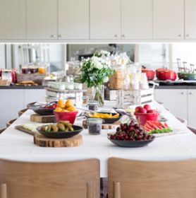 Breakfast buffet Lindenderry Red Hill Mornington Peninsula Boutique Hotel